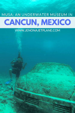 Explore MUSA, an underwater museum off the coast of Cancun, Mexico. No dive certification needed!