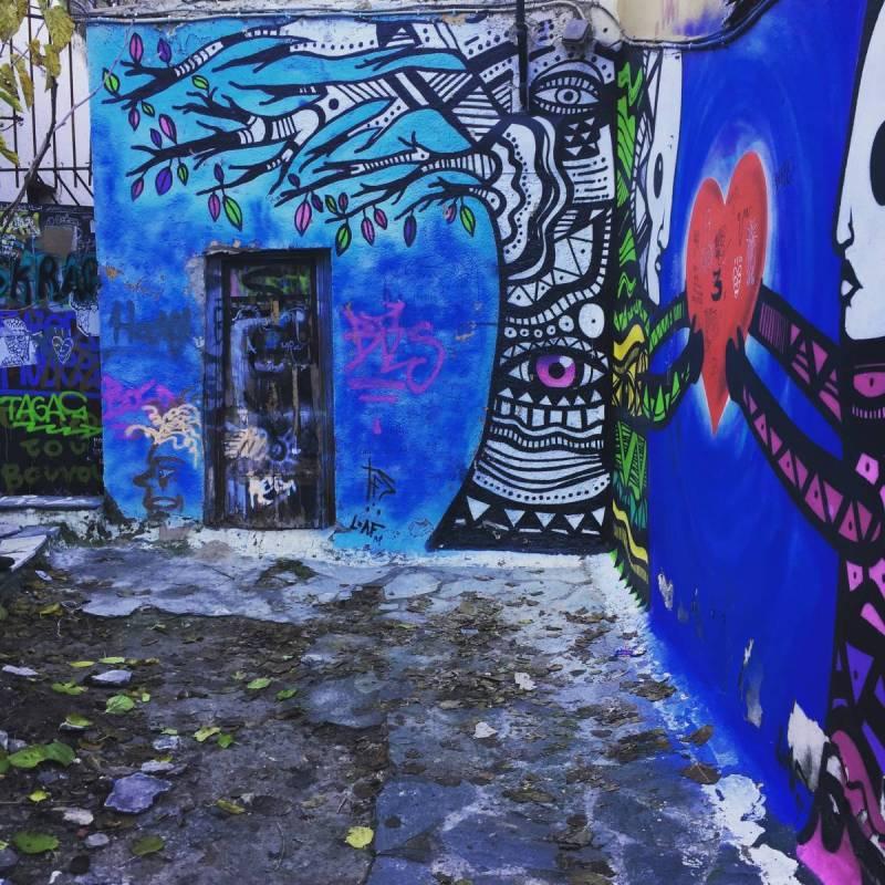 Street art in Anafiotika