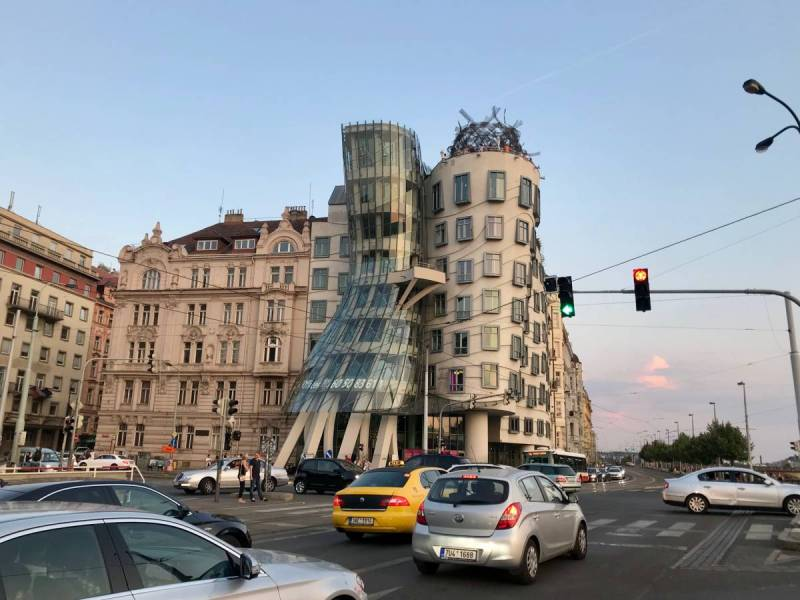Dancing house from the outside