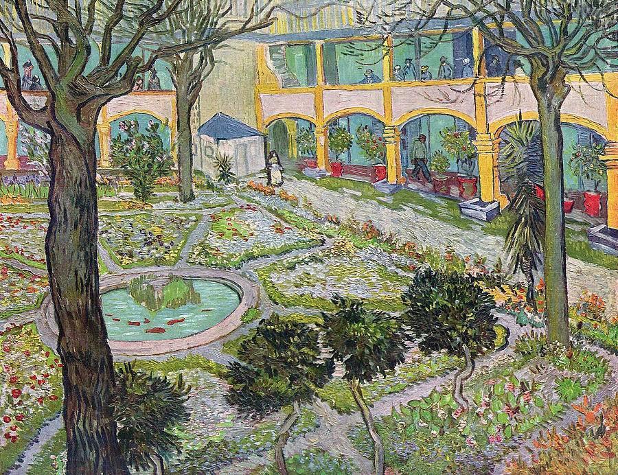 Courtyard as painted by Van Gogh