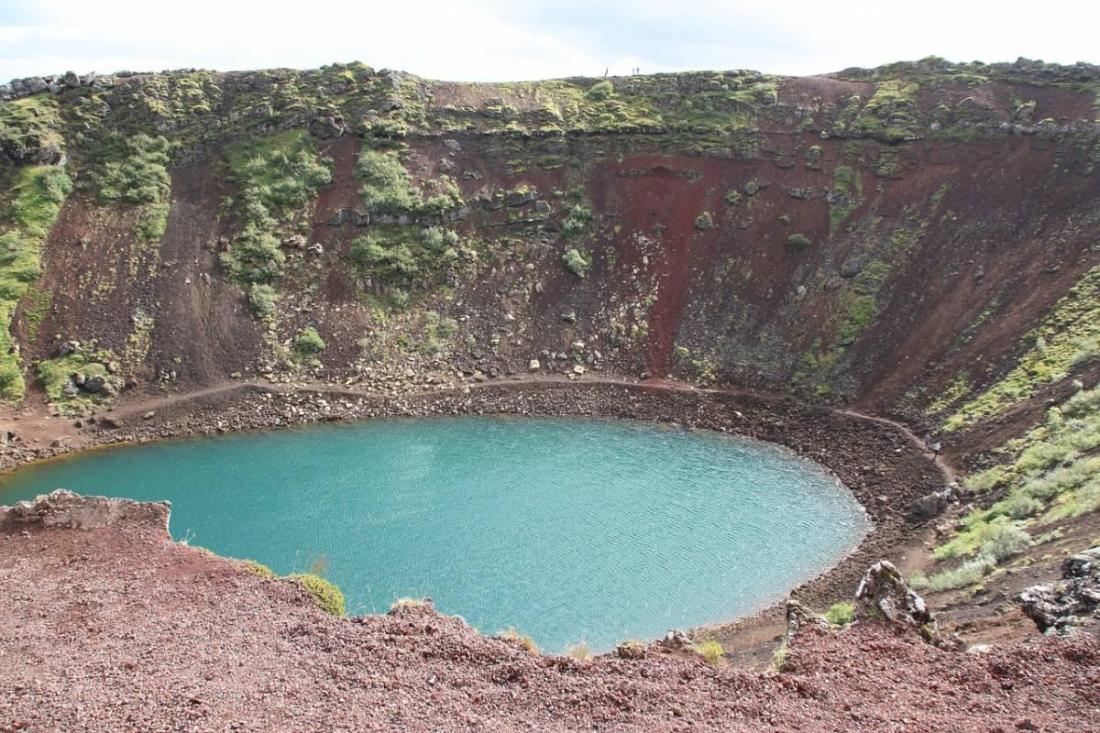 Kerid Crater view