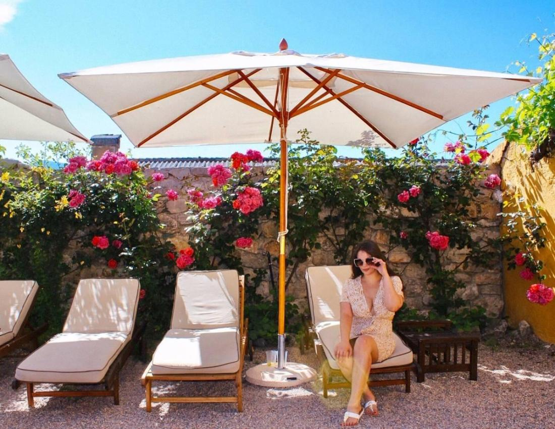 Lounging poolside at the Hotel Cortijo del Marques