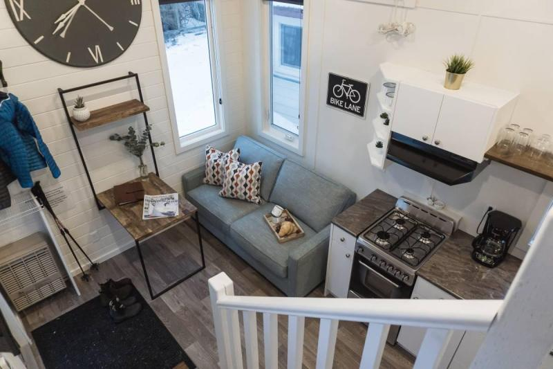 Living room of a tiny home