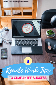Thinking about working from home? These remote work tips will ensure your business is a success! #entrepreneur #remotework #workfromhome #digitalnomad