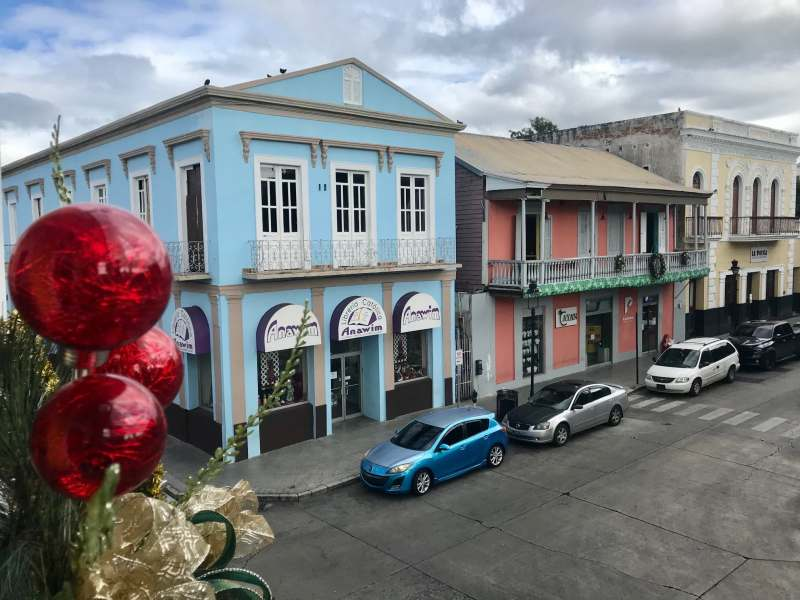 Colorful houses in the city center