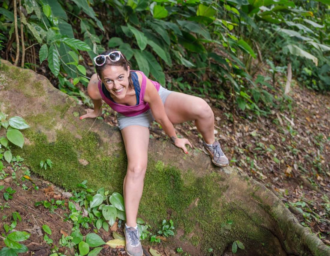 Jessie hiking outdoors