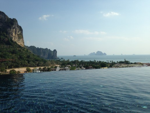 Infinit pool in Krabi, Thailand
