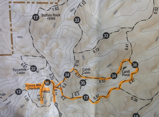 JenPhotographs Mueller Stat Park Map of planned route