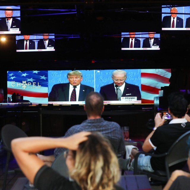 首场川普-拜登辩论会有73万观众,不敌2016年 Trump-Biden presidential debate ratings fall 13% from 2016's record-setting first debate