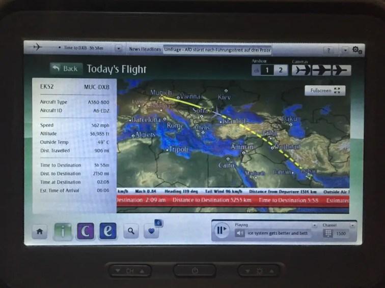 Inflight info system