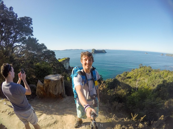 Starting our walk to Cathedral Cove.