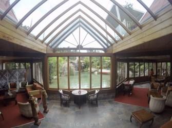 The spa lobby.