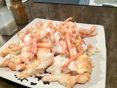 Some yummy raw crayfish.
