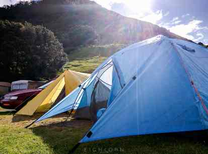First campsite - Mt. Manganui Holyday Park