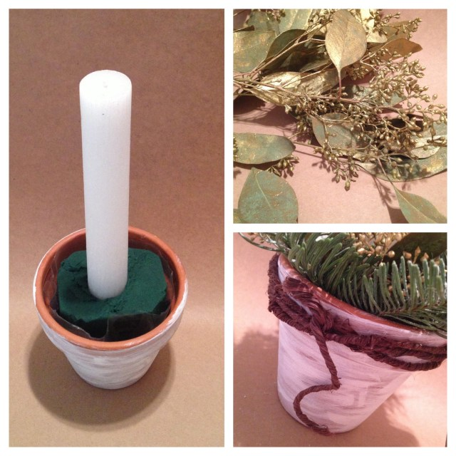 Taper Candle Centerpiece Step 3