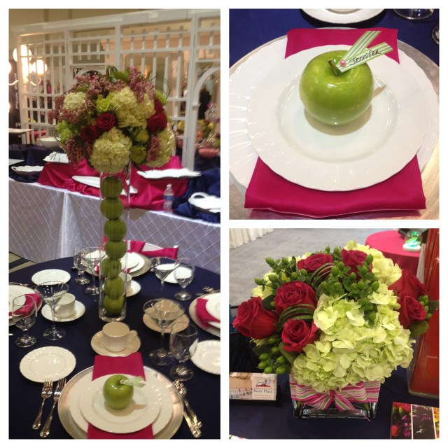 Navy, Apple Green & Fuchsia Tabletop