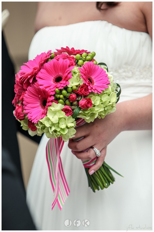 Gerbera Daisy Bridal Bouquet by Jen's Blossoms | photo by JFK Studios