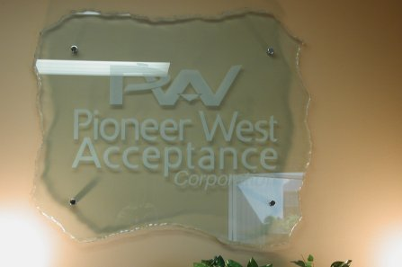 reception signs - Glass