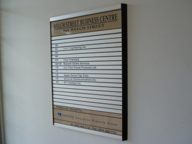 interior signs - Custom Made Directories