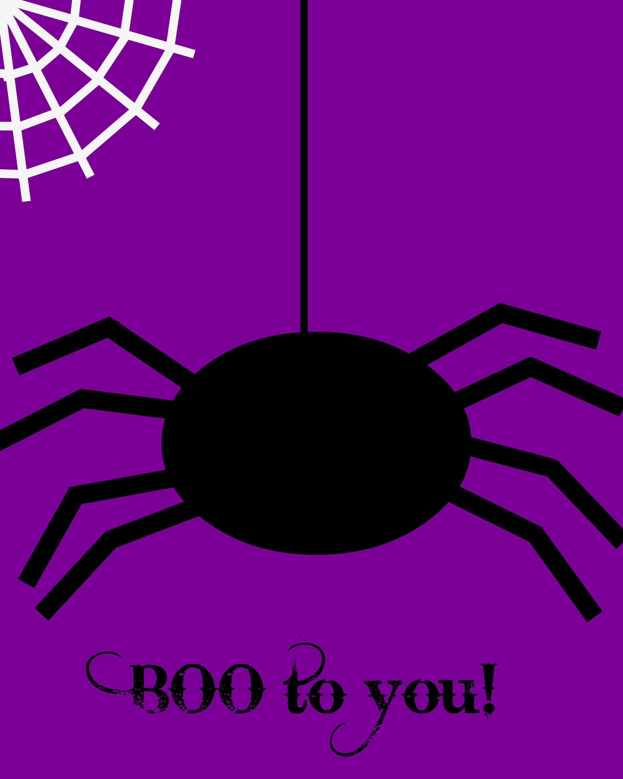 Halloween Printable Spider