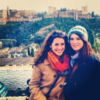 Emily and I in the Albacin in front of the Alhambra.