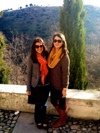 Emily and I at the festival at Sacramonte. Never climbed so high in my life! :) So glad I did!