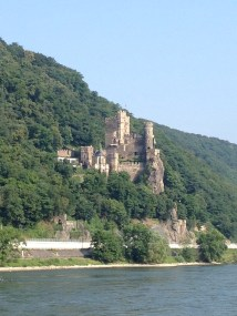 Castle on the Rhine River, Germany
