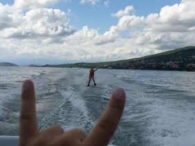 Me water skiing in Crikvenica