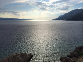 Adriatic Sea - up the coast from Brela