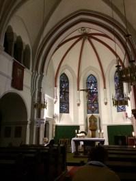 Inside the little mountain church