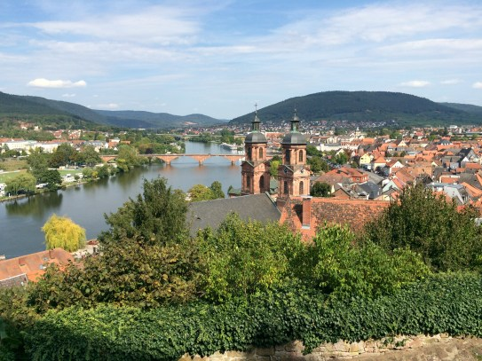 View of Miltenberg from up at the castle