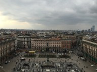 Looking out over the Duomo square