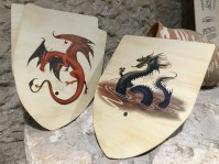 Fun dragon shields in the gift shop!