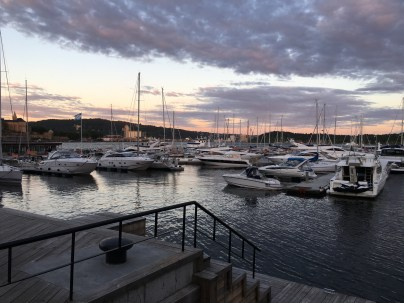 Oslo Marina at sunset