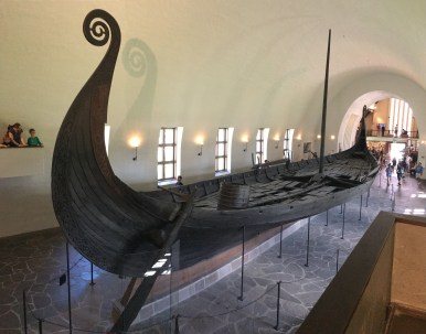 Panorama shot of Viking Ship