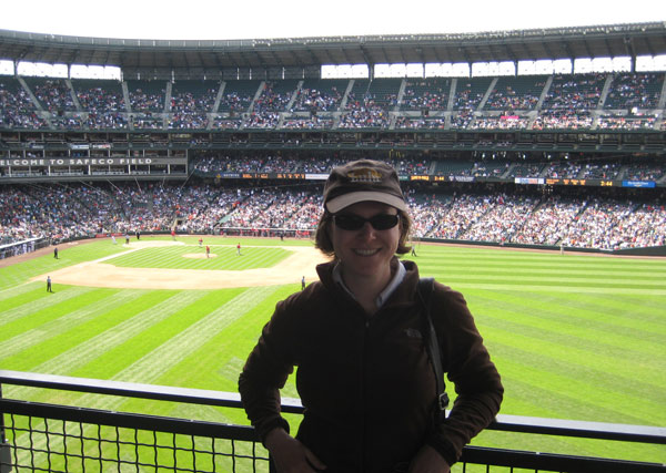 Jen at the Mariners Game