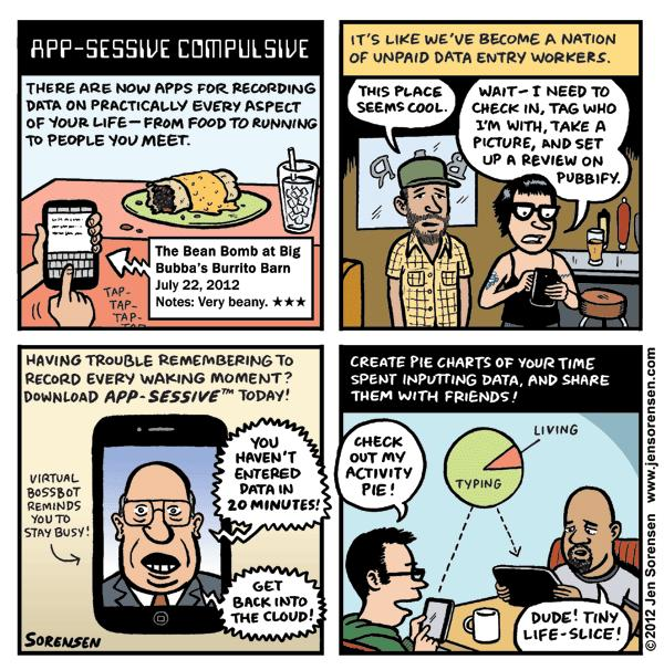 "This Week's Cartoon: ""App-sessive Compulsive"""