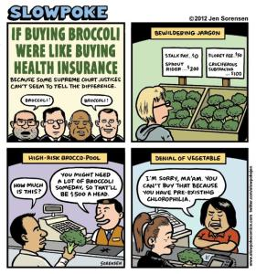 This Week's Cartoon: If Buying Health Insurance Were Like Buying Broccoli