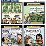 This Week's Cartoon: If Buying Health Insurance Were Like Buying Broccoli