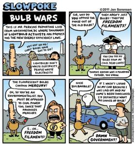 "This Week's Cartoon: ""Bulb Wars"""