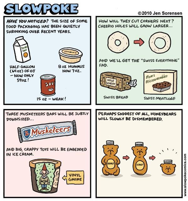 """This Week's Cartoon: """"Incredible Shrinking Groceries"""""""