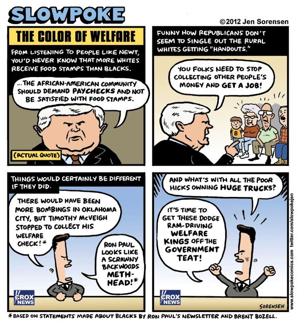 "This Week's Cartoon: ""The Color of Welfare"""