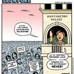 This Week's Cartoon: Freelancer Riot At Huffington Palace