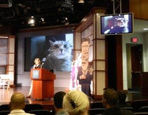 Jen Sorensen speaking at AAEC convention