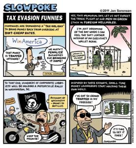 "This Week's Cartoon: ""Tax Evasion Funnies"""