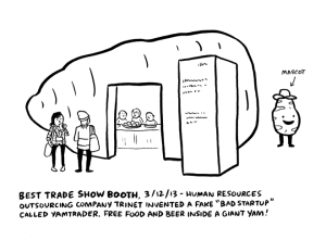 cartoon of SXSW Trade Show booth