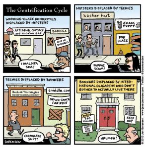 cartoon about gentrification