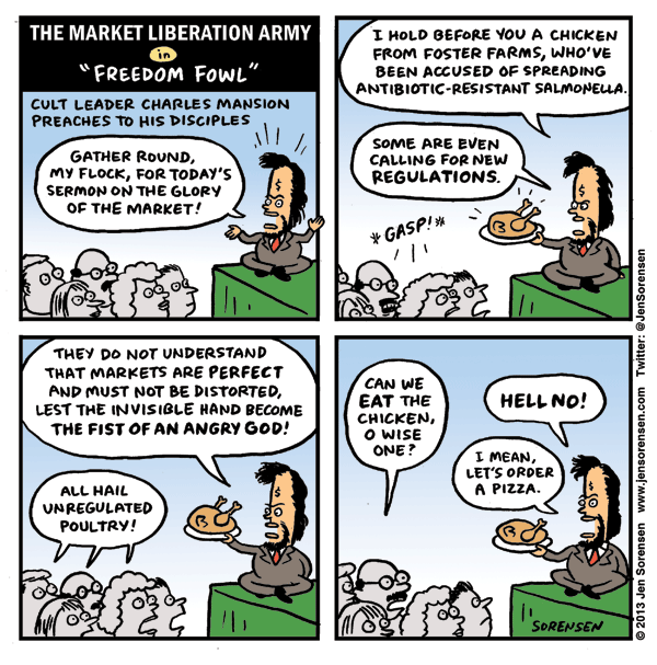 """The Market Liberation Army in """"Freedom Fowl"""""""
