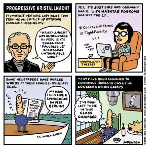 cartoon about Tom Perkins comments on progressives and economic inequality