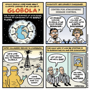 The Globola Crisis: Cartoon on ebola and global warming